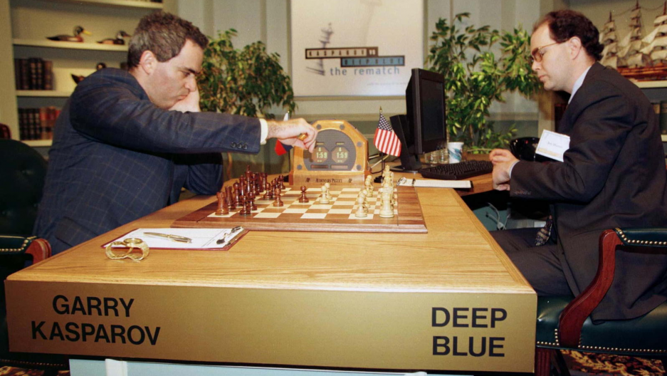 Image result for garry kasparov beat  ibm's deep blue at chess