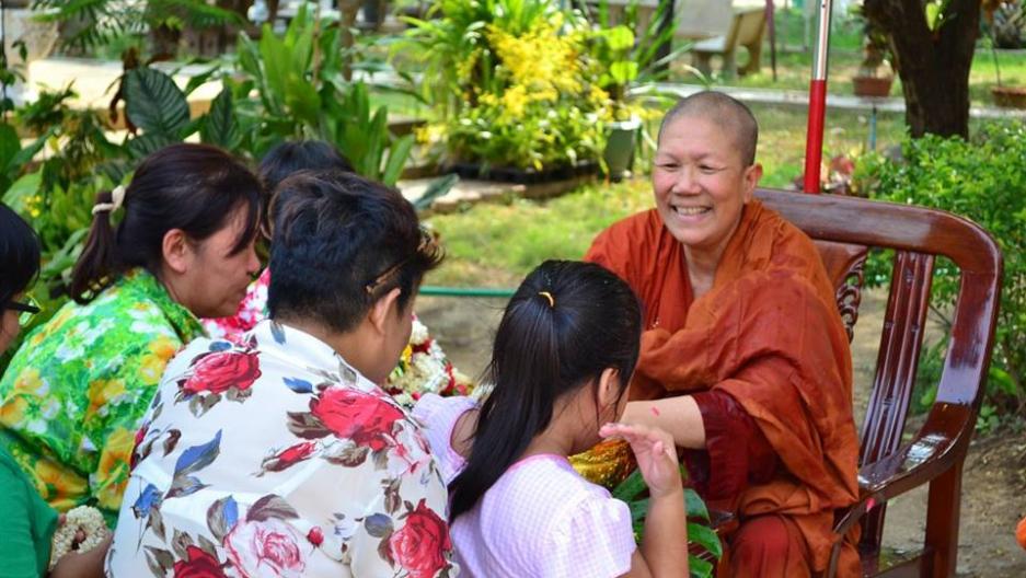 Dhammananda smiling