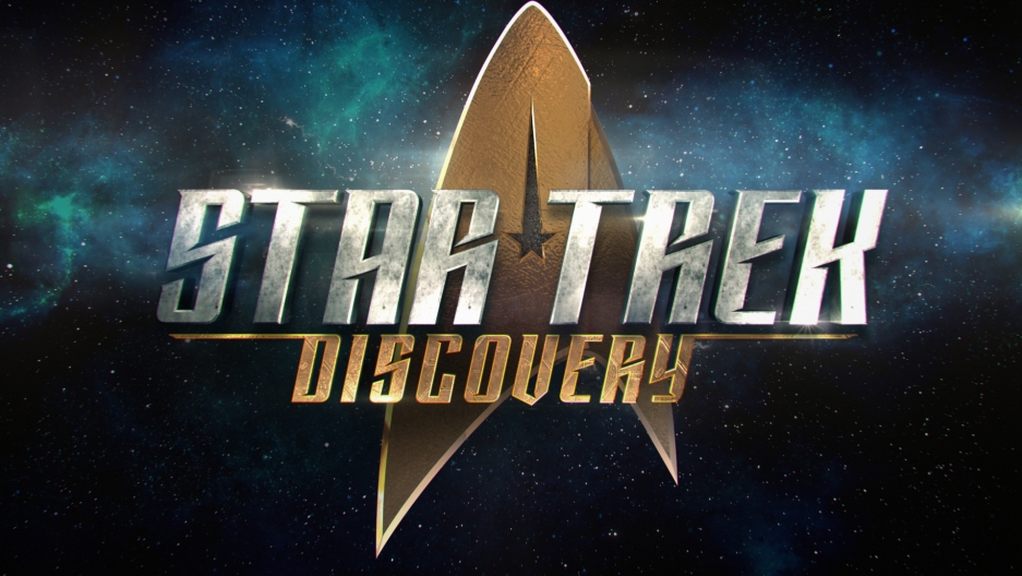 The official logo of STAR TREK: DISCOVERY premiering on CBS All Access and CBS Television Network.
