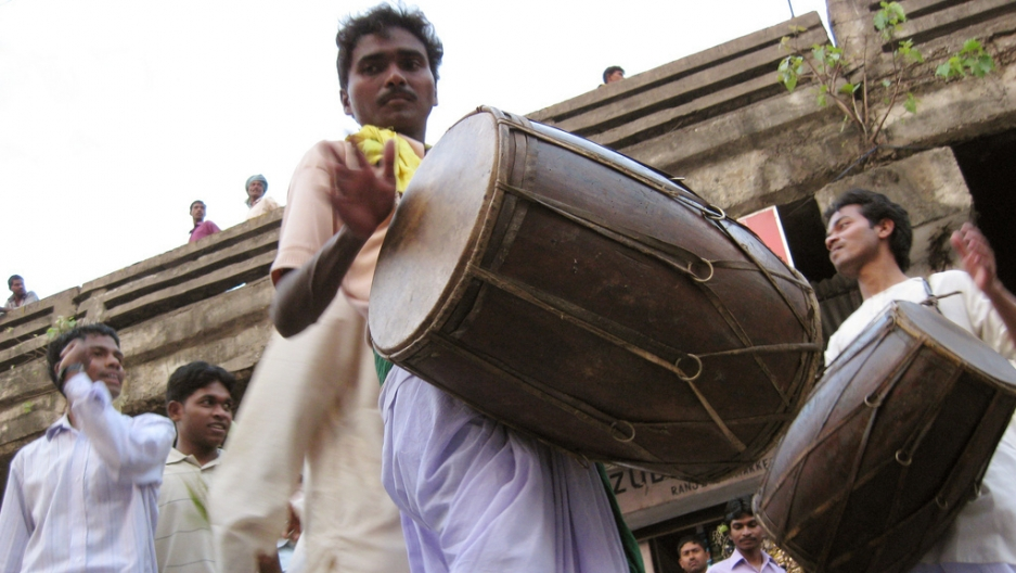 A drummer performs during a celebration of Sahrul, a festival of flowers, in Ranchi, India. Recently, the findings were released from a study that played snippets of songs from 86 small remote societies to online listeners in 60 countries to see if shares