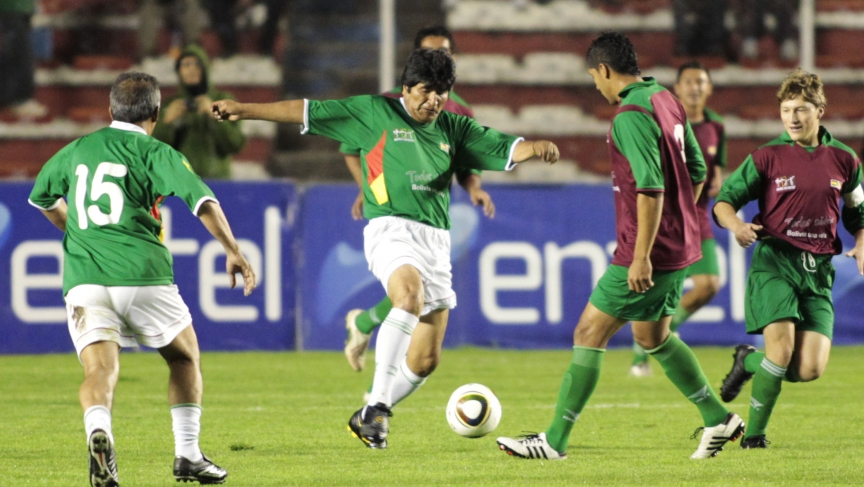 0ea37c3c3 President Evo Morales is offered a contract by professional soccer ...