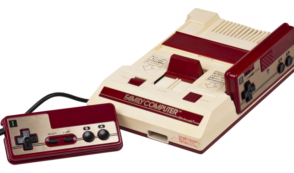 "A Japanese Famicom (short for ""Family Computer"") video game console made by Nintendo."