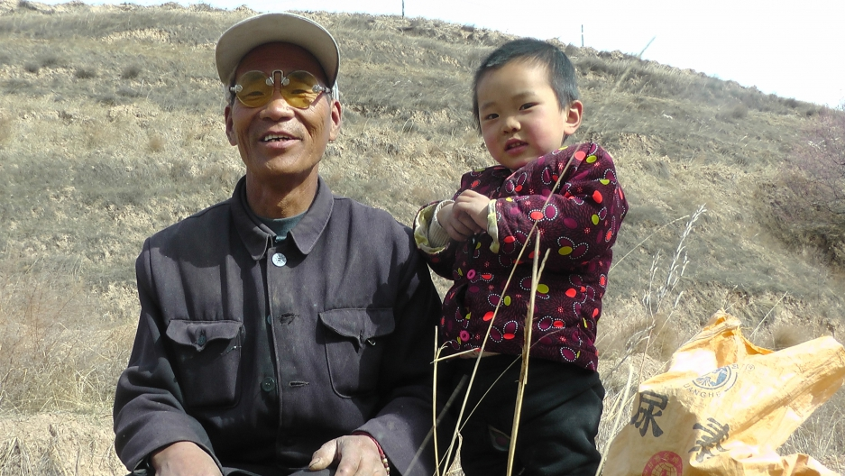 In the parched county of Pengyang, farmer Mi Zhangzhong says a local tree-planting campaign has helped bring more rain.