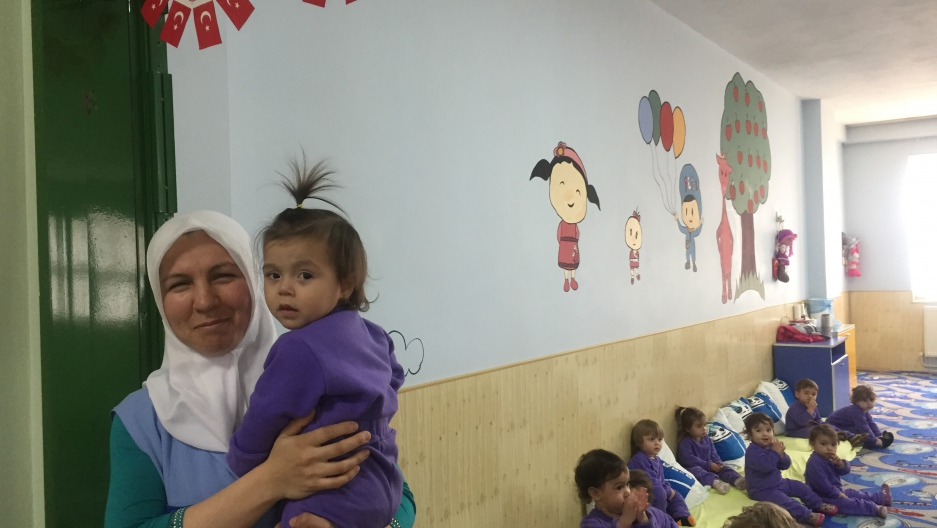 Turkish women struggle to enter the work force but company day care is helping