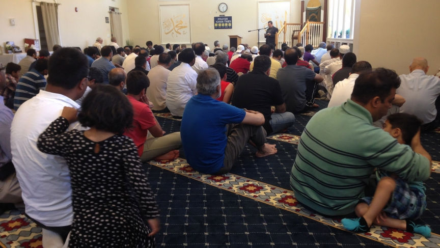 The Yusuf Mosque is in a former VFW building in the Brighton neighborhood of Boston. Congregants are an incredible mix of Muslims from a host of different countries.
