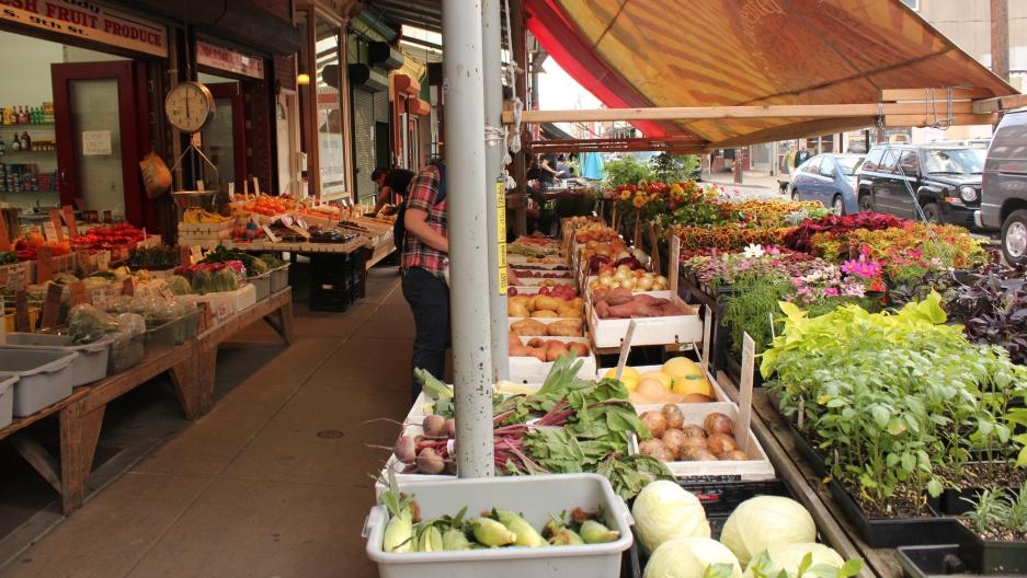 The Italian Market in South Philadelphia.