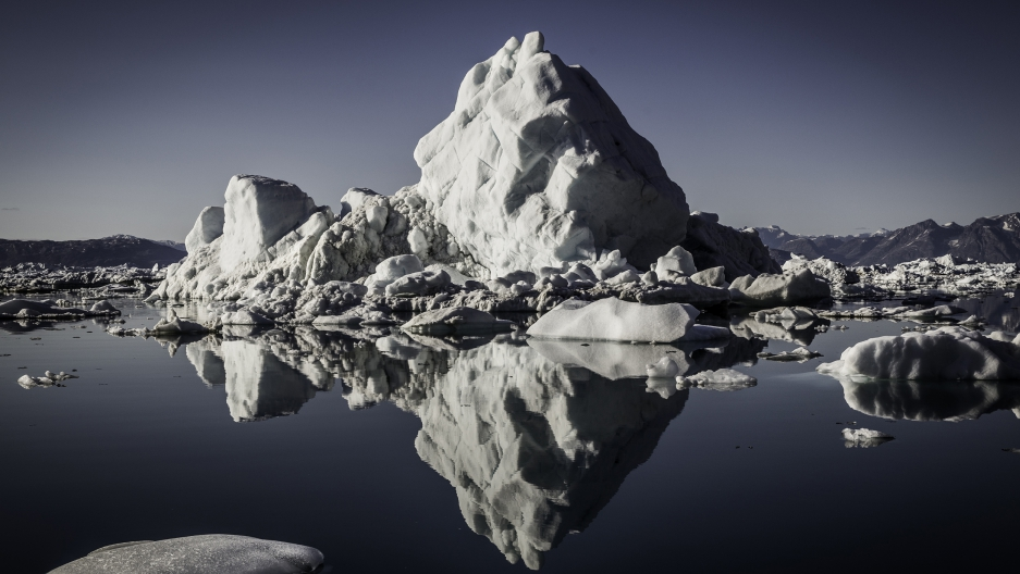Greenland's Sermilik fjord is choked with huge icebergs from one of the island's biggest glaciers. But climate researchers working in the fjord and on the Helheim glacier are looking for tiny clues in hopes of getting a better handle on how cliamte change