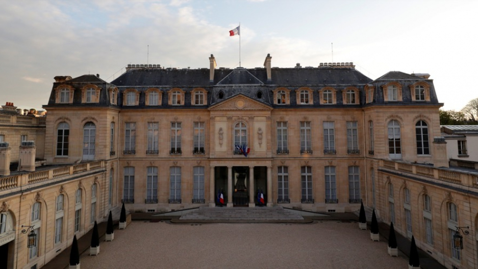 The Elysee Palace, the French president's official residence, in Paris, France.