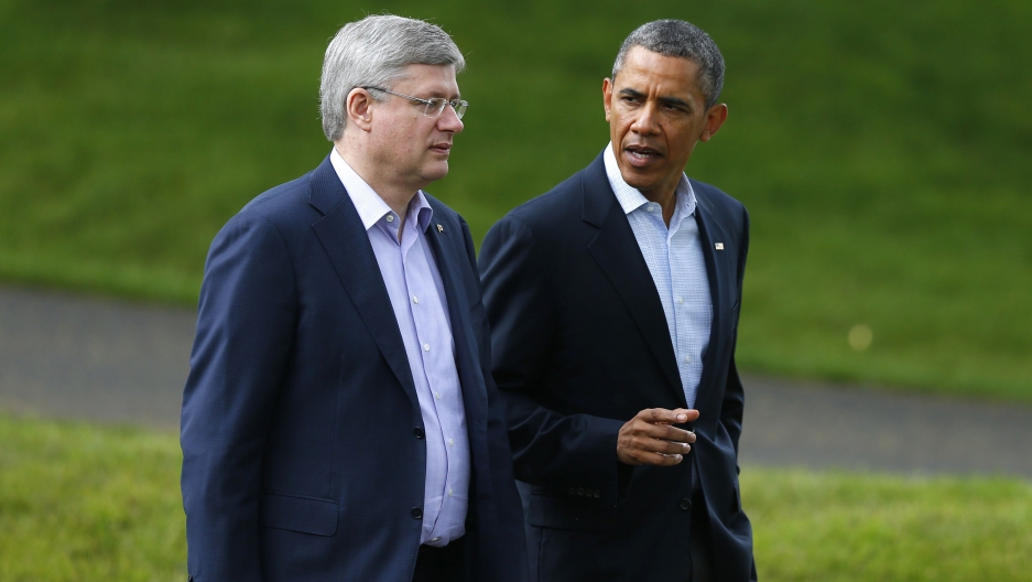 The former Canadian PM and Obama