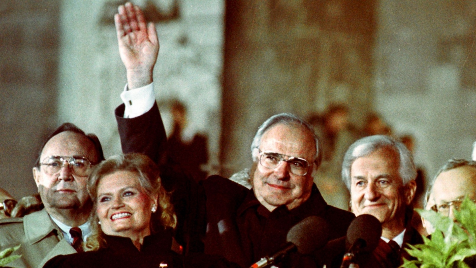 German Chancellor Helmut Kohl