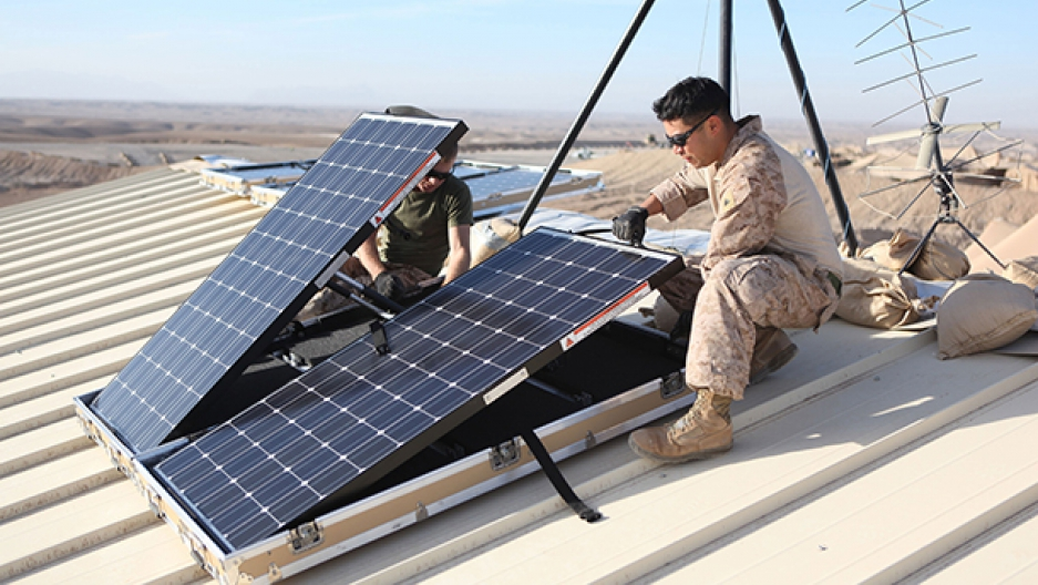 Military solar panels