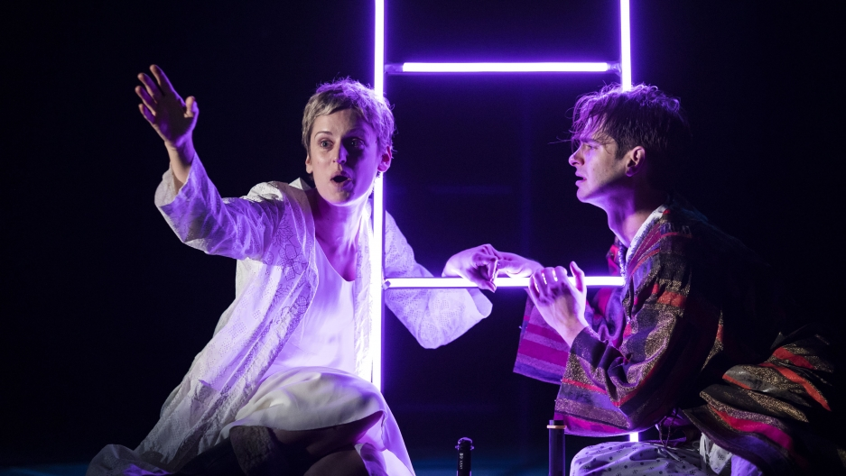 "Denise Gough and Andrew Garfield in ""Angels in America: Perestroika"""