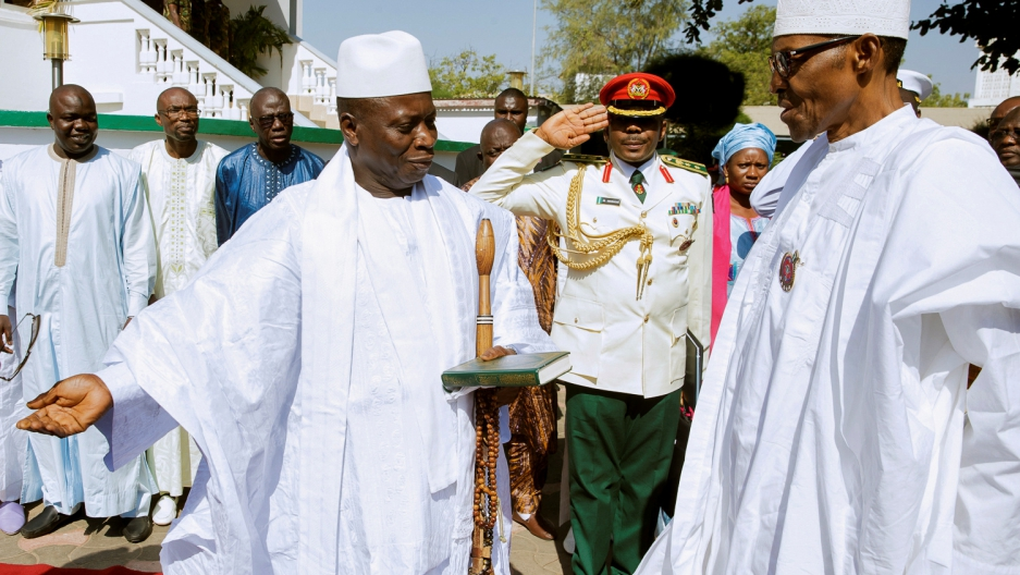 Nigerian leader to press Gambia's Jammeh to step down
