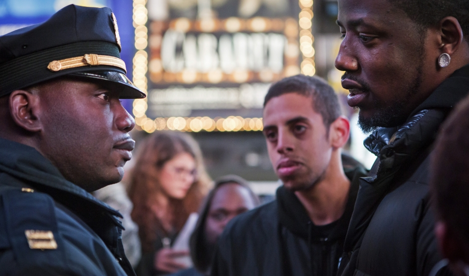 Protesters took to the streets of midtown Manhattan and other American cities after a New York City grand jury decided not to charge white police officer Daniel Pantaleo whose chokehold contributed to the death of Eric Garner, an unarmed black man. The US