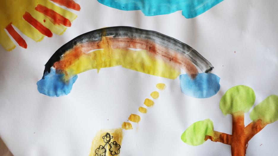 German flag rainbow painting
