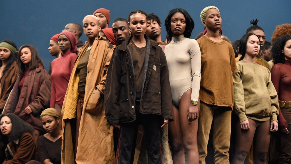 Models Pose During Kanye West Yeezy Season 3 At Madison Square Garden On  February 11, Great Pictures