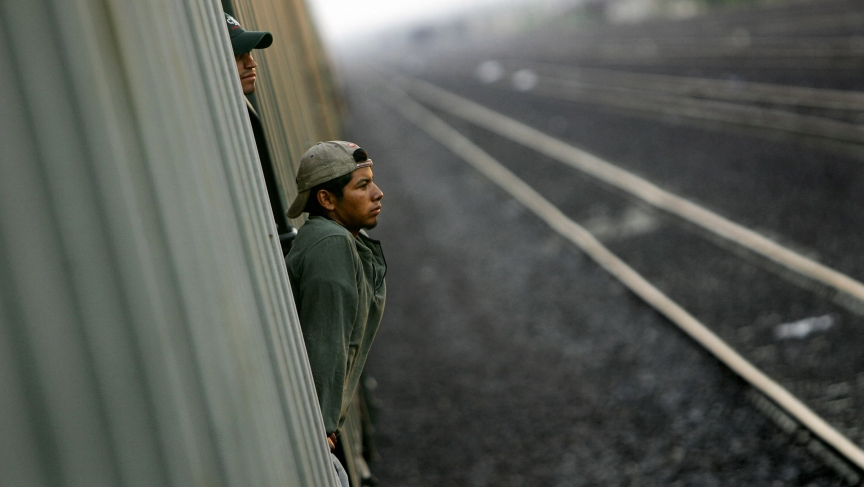 A migrant traveling to the border city of Nuevo Laredo, Mexico in 2006. This fiscal year, US officials have detained more than 52,000 unaccompanied minors and 39,000 women with children along the US-Mexico border.
