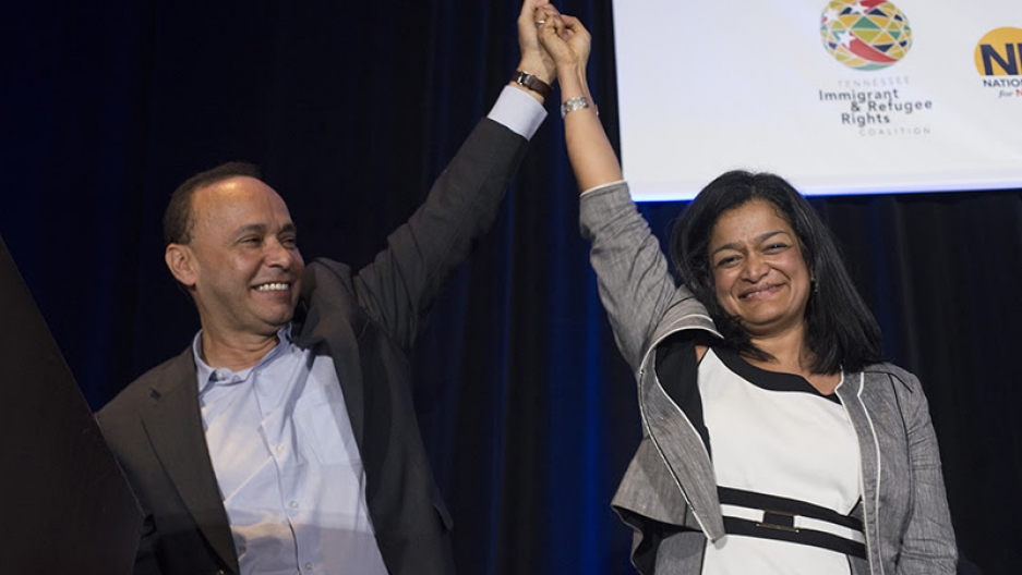 Chicago Congressman Luis Gutierrez and Congresswoman Pramila Jayapal from Washington state at the 2016 National Immigrant Integration Conference in Nashville.