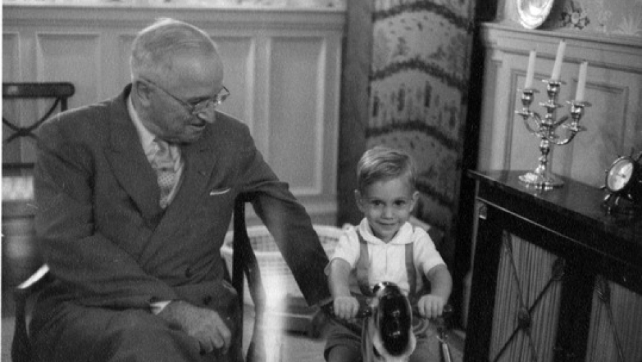 Clifton Truman Daniel with his grandpa, former President Harry S. Truman, c.1963