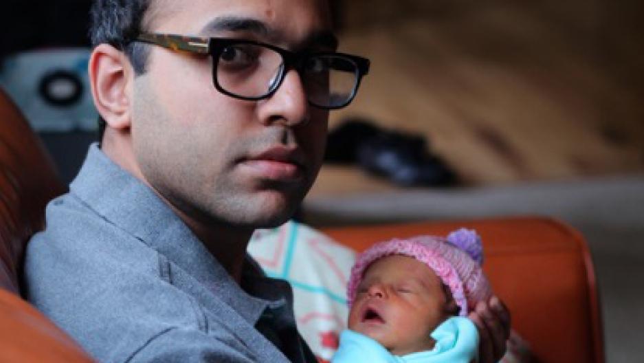 Baby Eva has yet to meet her Pakistani grandmother.