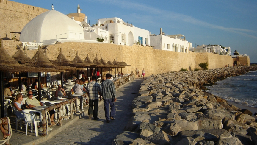 The seaside Tunisia resort of Hammamet is well known for its beaches and nightlife.