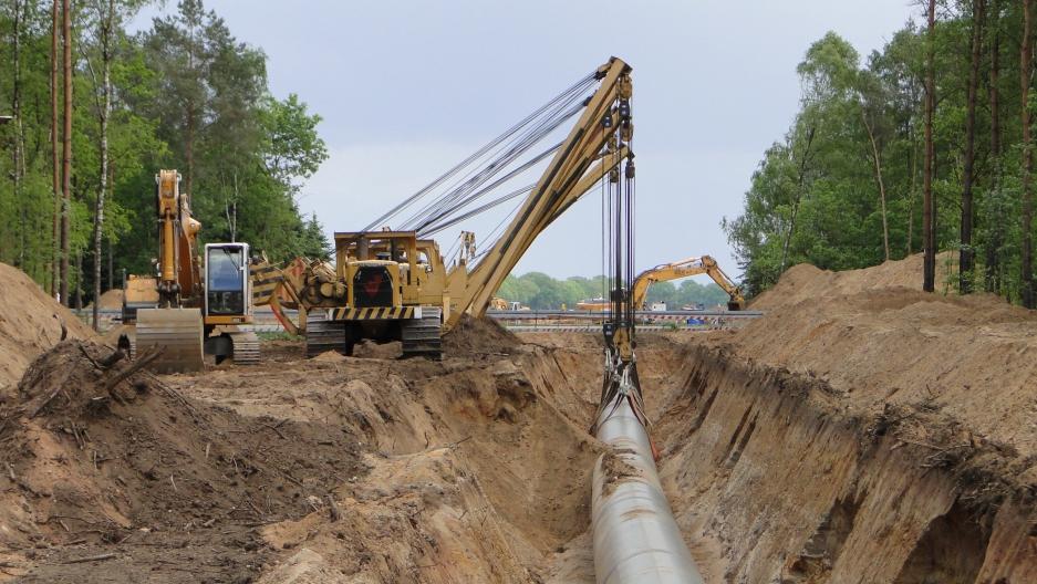 Gas pipeline in Germany