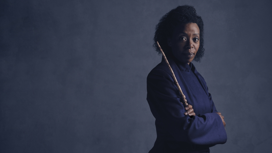 Hermione Granger, played by Noma Dumezweni in the new play Harry Potter And The Cursed Child.