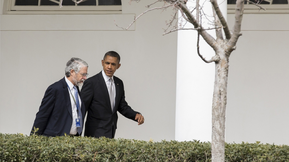 """John Holdren, President Obama's chief science advisor, says he's optimistic about the world's nations striking a strong climate deal next month in Paris, in part because both the motivation and the means to fight the climate crisis are """"growing all the time."""" (Reuters/Joshua Roberts)"""