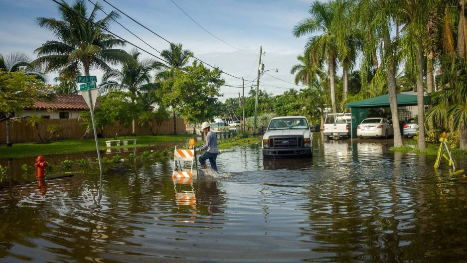 For cities along Florida's Atlantic coast, flooding from high tides has already become a reality. Fort Lauderdale, Fla., September 2015.