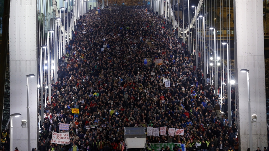 Budapest protest against Internet tax proposal