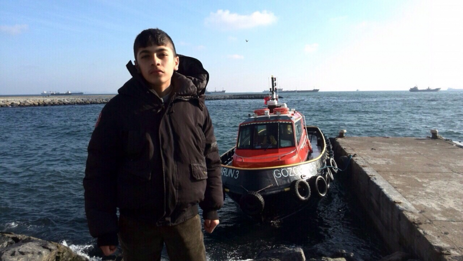 Massoud Delawari, 14, boarded a boat from Turkey to Greece in February. The boat capsized two miles off the Turkish coast. He's still missing.