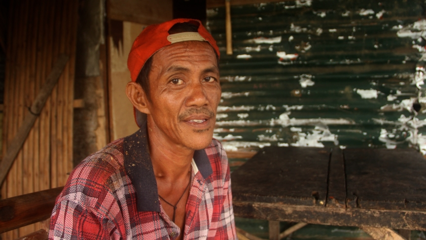Farmer Felipe Parado Jr., 59, has collected the sap of coconut palms, to make wine, since he was a child.