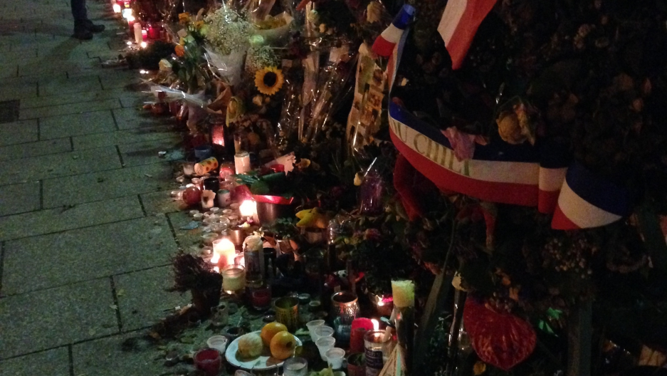 The scene outside the Bataclan in December 2015