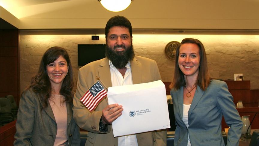 In 2012, Tarek Hamdi, from Egypt, received his US naturalization certificate. He first applied for citizenship in 2001 but faced more than a decade of delays and denials until he won his case.