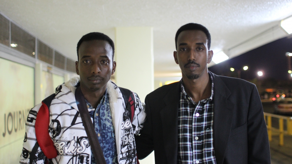 Abdi and Hassan bid farewell to each other at Nairobi Airport in August 2014. A few minutes later, Abdi boarded a flight to Boston. The brothers have not seen each other since. Hassan is still attempting to apply for refugee status in the US.