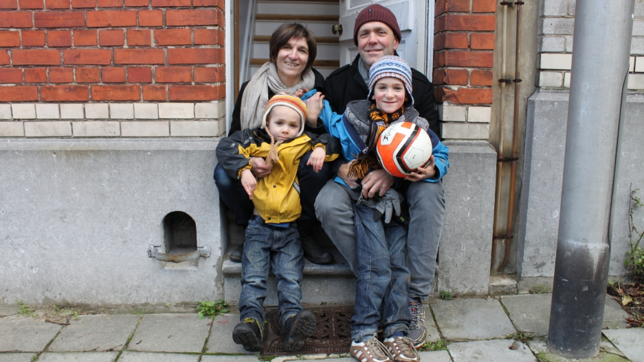 Michaela Bauer and Richard Bishop and their sons