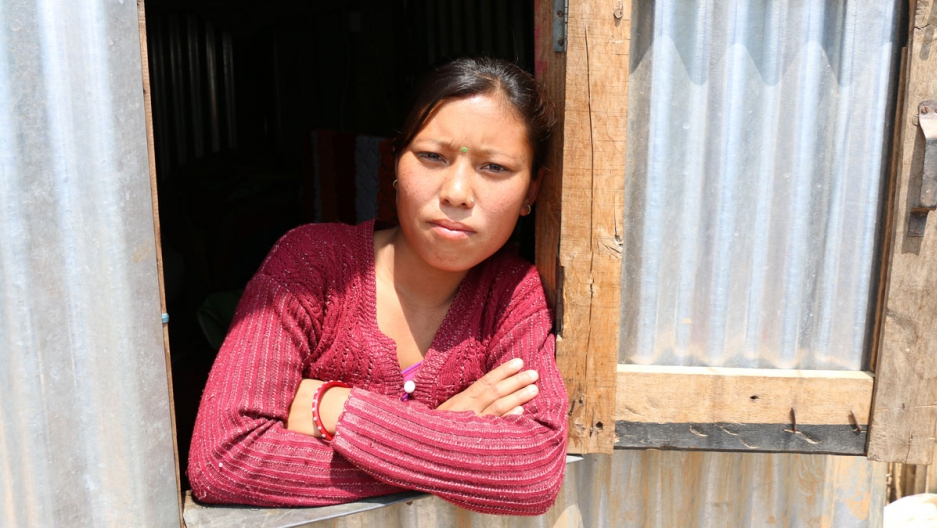 24-year-old Prapti Tamang's two-story house was destroyed during the 2015 earthquake.
