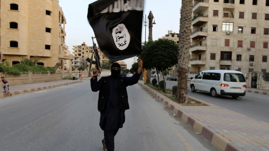 ISIS black and white flag