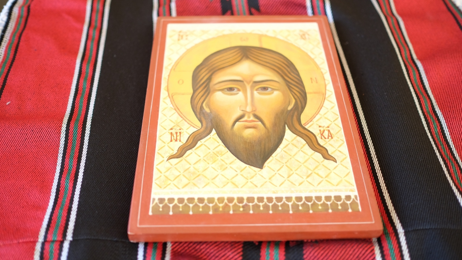 Christian icons are available in plenty of tourist shops in the Palestinian city of Bethlehem, in the West Bank. But the ones painted by Palestinians are harder to find.