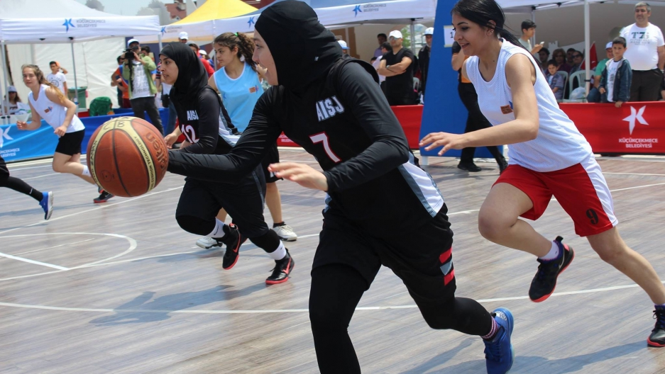 Professional basketball player Indira Kaljo has spent the past two years campaigning to permanently lift FIBA's head covering rule.