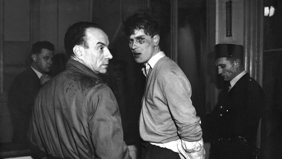 Jacques Fesch was arrested in Paris on February 25, 1954 after having committed a hold-up at a currency exchange stand. While fleeing the scene, he killed a policeman and wounded three persons.