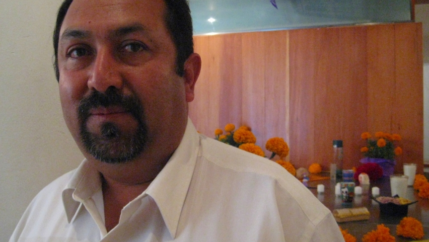 Mexican reporter Jesús Lemus, who recently published a book about his time in prison.
