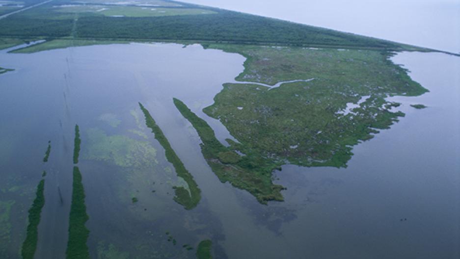 Mississippi Delta aerial view