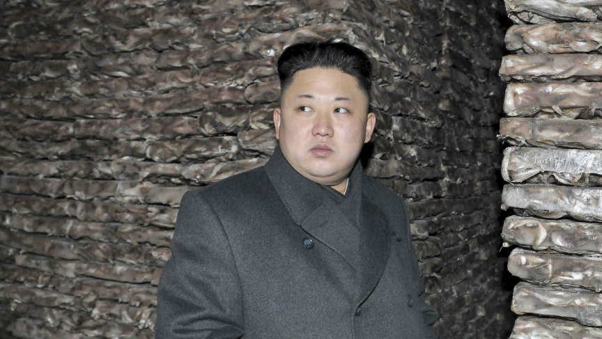 North Korean leader Kim Jong-un visits the Aquatic Products Refrigerating Facilities.