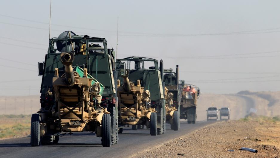 Artillery belonging to Iraqi army are seen southwest of Kirkuk, Iraq, October 17, 2017.