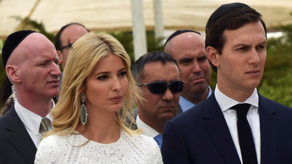 White House senior adviser Jared Kushner and his wife Ivanka Trump