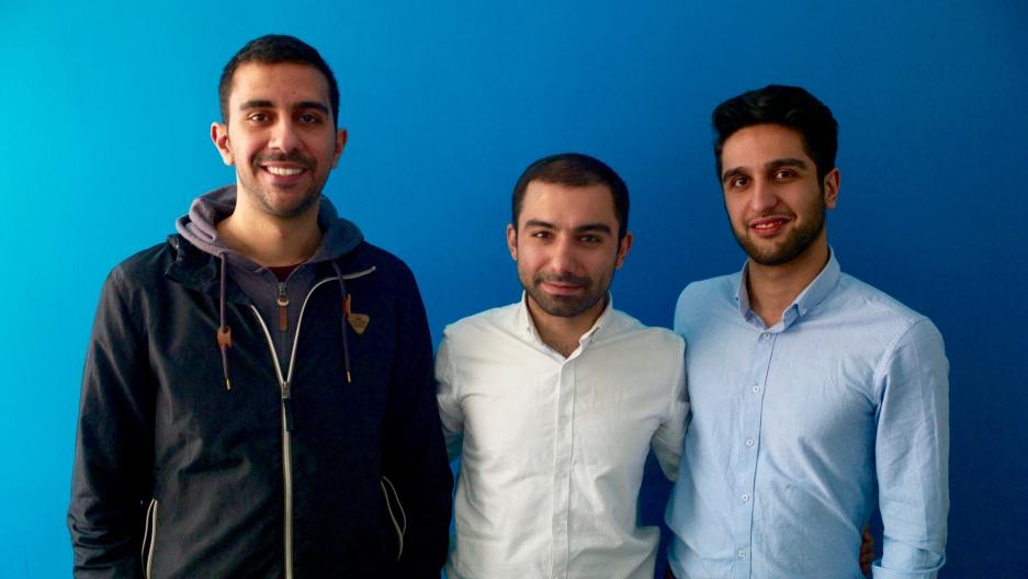 Hamed Jafari, Mohammadreza Azali and Alireza Jozi (left to right) are the founders of the Tehran startup TechRasa.