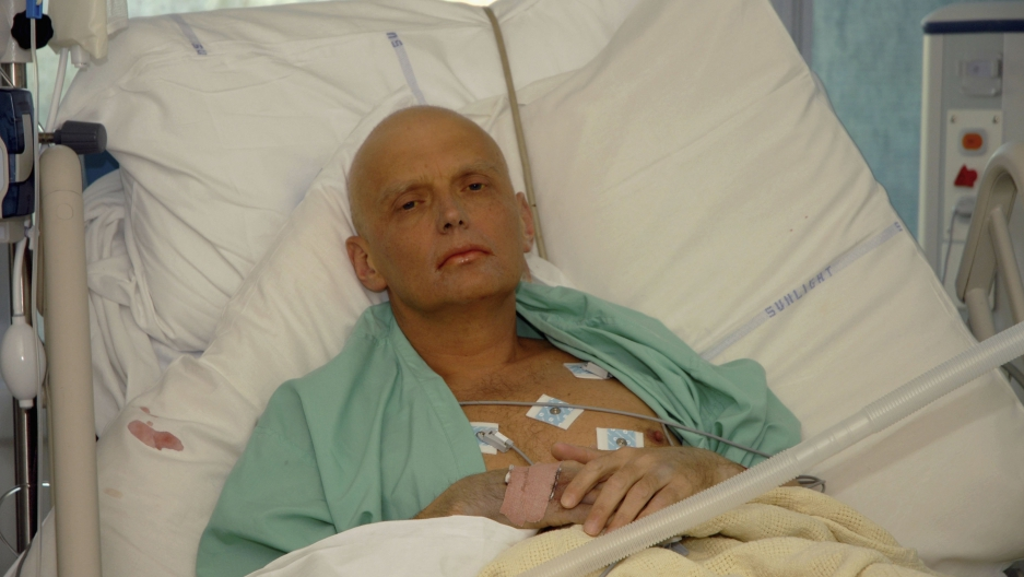 Alexander Litvinenko in the hospital shortly before his death in 2006.