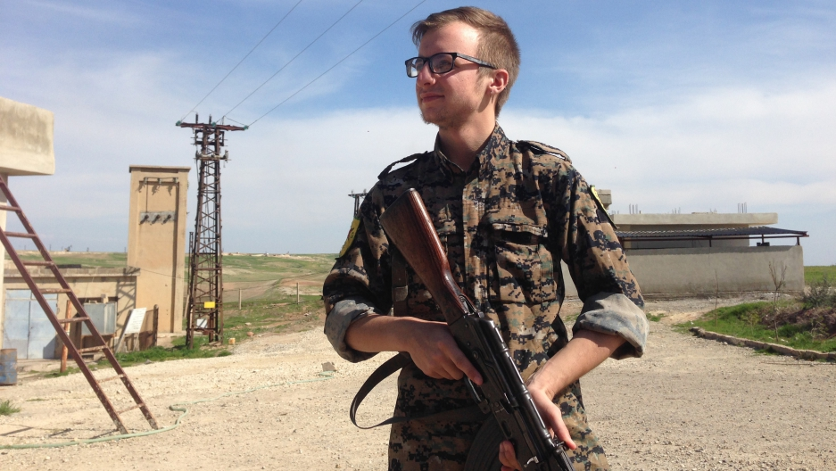 Lucas Chapman in Rojava, Syria.