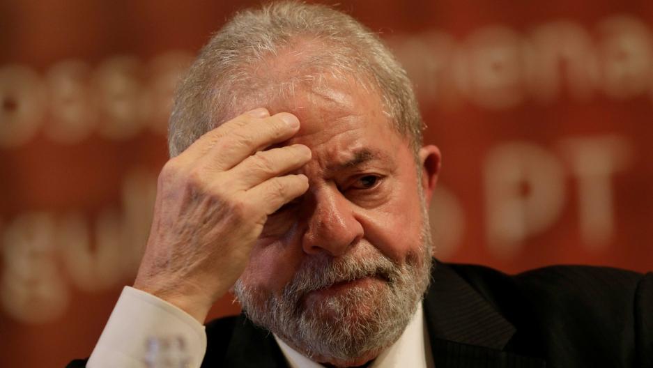 Former Brazilian President Luiz Inácio Lula da Silva at a Workers' Party event in Brasilia, Brazil on July 5.
